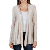Joseph A. Women's Knit Open Front Tiered Cardigan