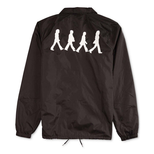 Hybrid Apparel The Beatles Mens Coaches Jacket (Black, Small)