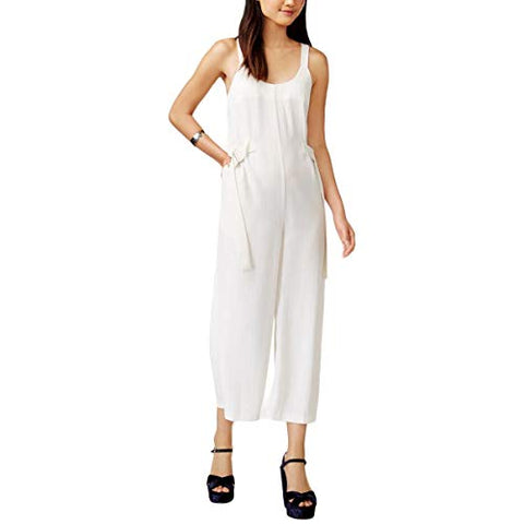 MINKPINK Women's Sleeveless Pinstripe Jumpsuit (Black/White, Large)