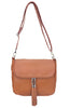 Roma Leathers Womes Cowhide Leather Concealed Carry Crossbody Purse