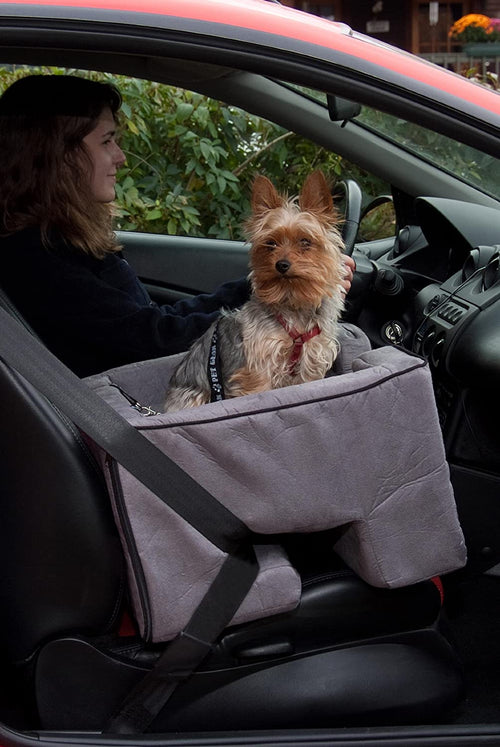 Pet Gear Large Micro Suede Car Seat Booster (Charcoal)