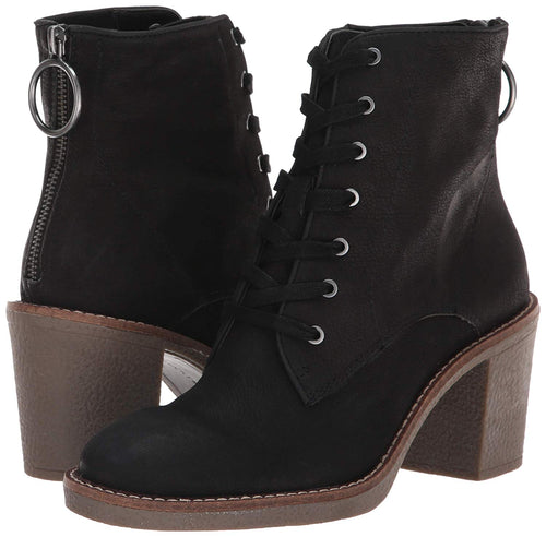 Lucky Brand Women's Borelis Lace-up Back Zipper Suede Ankle Boot, (Black,12)