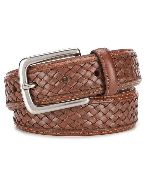 Tommy Bahama Mens Woven Braided Leather Belt