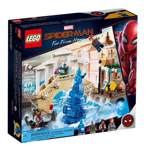 LEGO Marvel Spider-Man Far From Home Hydro-Man Attack (76129, 471 Pieces)