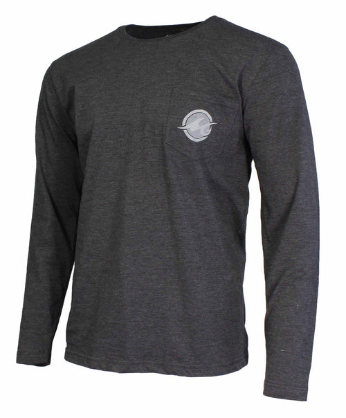 Mojo Mens Icon Shield Long Sleeve Quick Dry Performance Fishing Pocket T-Shirt
