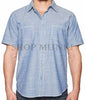 Weatherproof Mens Vintage Classic Woven Short Sleeve Button-Up Shirt
