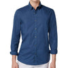 Michael Kors Mens Slim Fit Garment-Dyed Button Down Shirt (Denim, XX-Large)