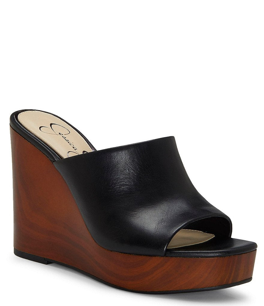 f92ef1603 Jessica Simpson Womens Shantelle Wedge Slide Sandal. Tap to expand