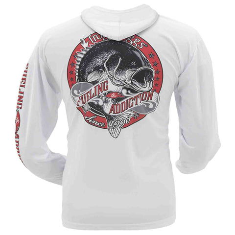Frogg Toggs Mens Fueling the Addiction Hooded Performance Shirt