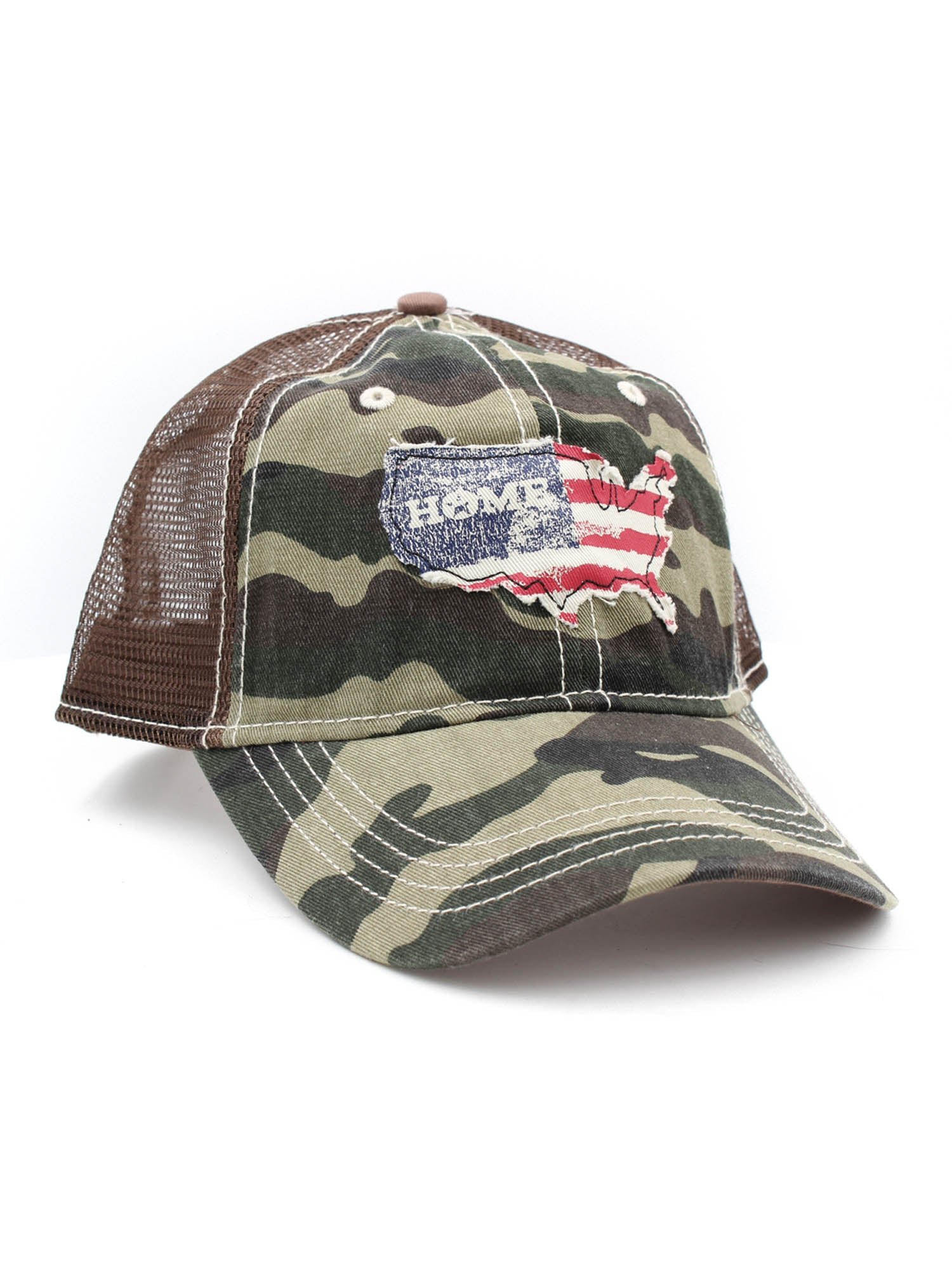 03410572a47 H3 Headwear USA Home Camo Mesh Trucker Adjustable Snapback Hat. Tap to  expand