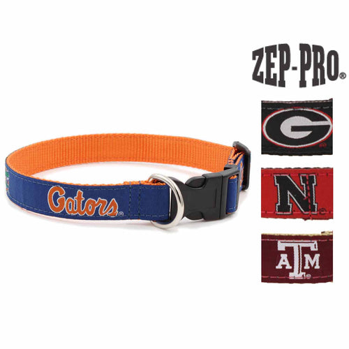 "ZEP-PRO NCAA Snap Adjustable 1"" Nylon Dog Collars"