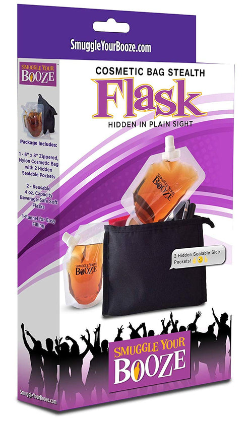 Smuggle Your Booze Cosmetic Bag Stealth Flask