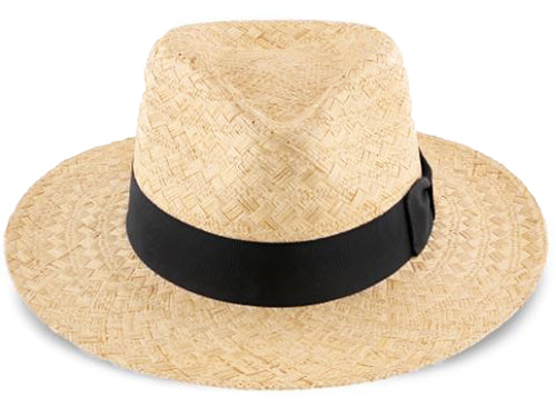 Scala Men's Fancy Sisol Safari Fedora Hat (Natural, Large)