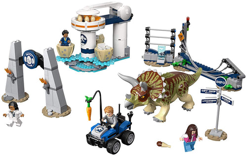 LEGO Jurassic World Triceratops Rampage Building Toy (75937, 447 Pcs)
