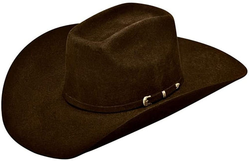 Ariat Mens Wool Added Money Crown 3 Piece Buckle Band Western Hat
