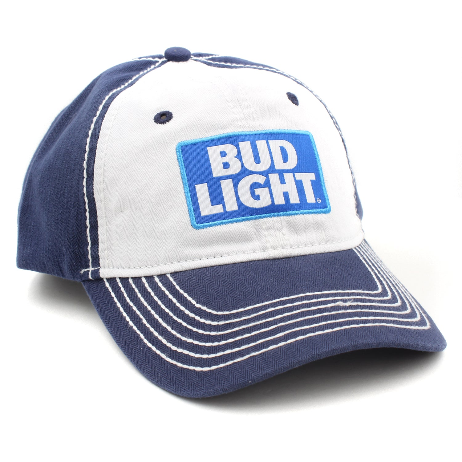 b65c4680310 H3 Headwear Bud Light Big Patch Adjustable Hat. Tap to expand