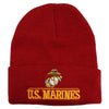 JSM Unisex Military Embroidered Emblem Knit Watch Cap
