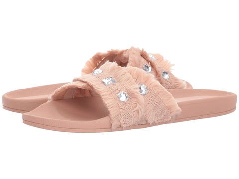 Jessica Simpson Womens Playah Glam Slide Sandals