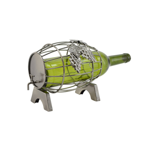 Recycled Metal Wine Bottle Holders and Cork Holders