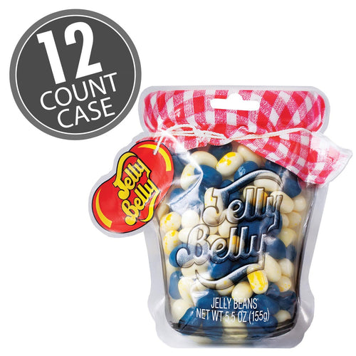 Jelly Belly Blueberry Muffin Mix Mason Jar 5.5 oz Bag (12 Count Case)