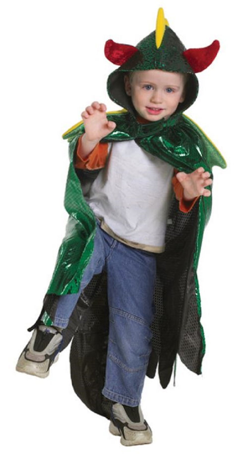 Great Pretenders Boy's Dragon Cape with Hood Costume