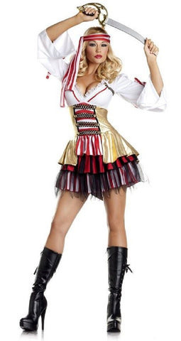Be Wicked Halloween Costume Women's 2 Piece Sexy Pirate