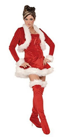 Underwraps Women's Sexy Miss Claus Costume Outfit (Small)