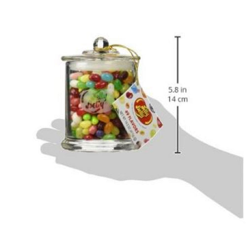 Jelly Belly Classic Glass Candy Jar with 49 Assorted Flavors-14.5oz