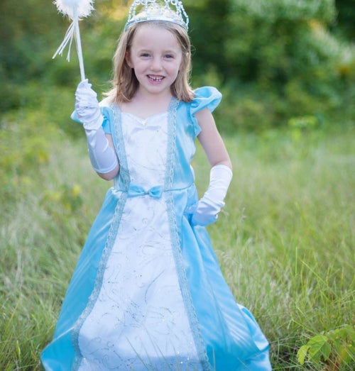 Great Pretenders Parisian Blue Hoop Girls Princess Dress