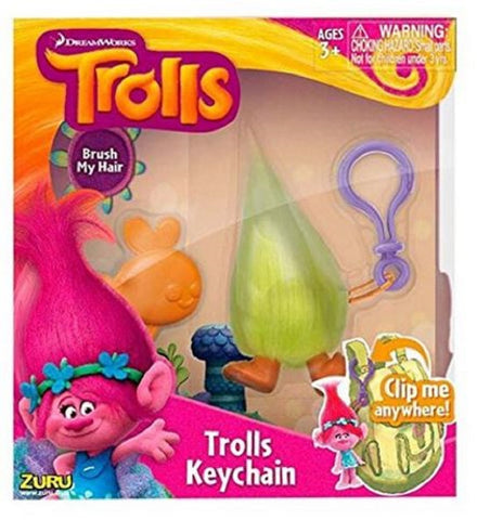 DreamWorks Trolls Medium Keychain & Brush Accessory