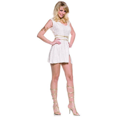 Underwraps Women's Grecian Goddess Sexy Greek Mini Dress Costume