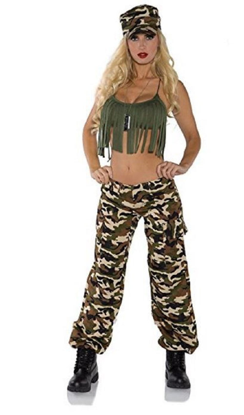 Underwraps Women's Ready For Duty Military Camo Costume