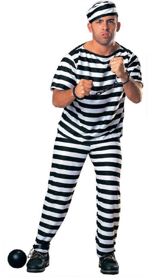 Underwraps Adult Prisoner Man Jail One Size Costume