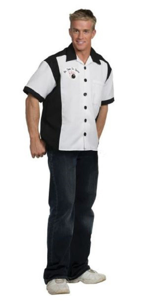 "Underwraps Men's ""No Time to Spare"" Bowling Shirt Costume (X-Large)"