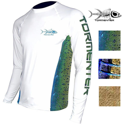 "Tormenter Men's ""Side To"" Long Sleeve SPF-50 Fast Drying Performance Shirt"