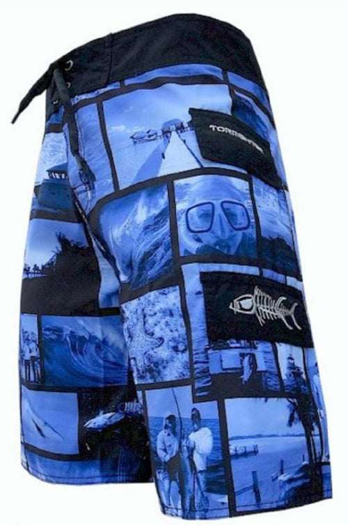 "Tormenter Mens ""Surf"" Lightweight Microfiber SPF35 Board Short with Cargo Pocket"