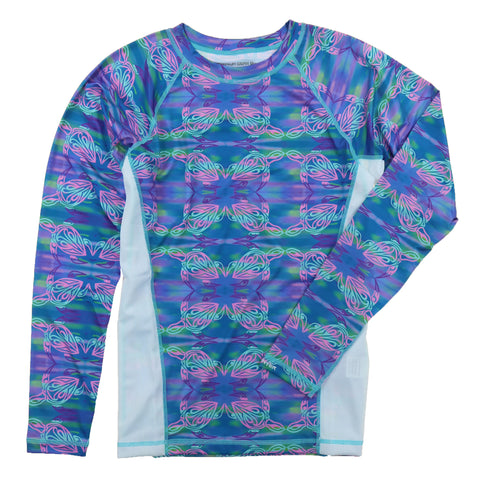 Tormenter Women's Printed Rash Guard SPF-50 Loose Fit Slimming Swim Shirt