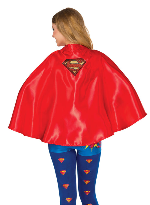 Rubie's Women's DC Superheroes Supergirl Cape Adult Costume Cosplay