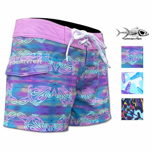 "Tormenter Women's 8 Way Stretch SPF-35 Lightweight 3.5"" Board Shorts"