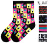 K. Bell Womens Fun Novelty All Over Design Cool Unique Comfort Crew Socks