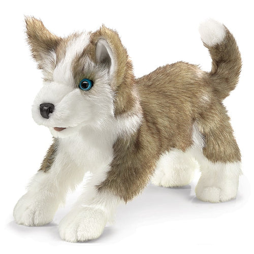 Folkmanis Play Pretend Animal Puppet, Wolf Pup