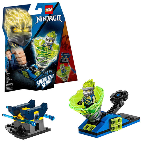 LEGO Ninjago Spinjitzu Slam Jay Building Kit (70682, 72 Pcs)