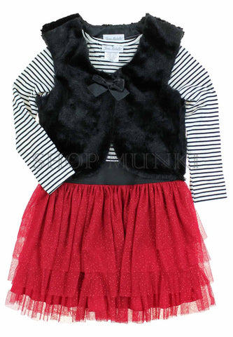 Jona Michelle Girls Dress with Cardigan