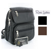 Roma Leathers Locking Gun Concealment Backpack Purse