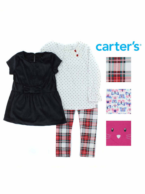 Carters Toddler Girls 3-Piece Playwear Outfit Set
