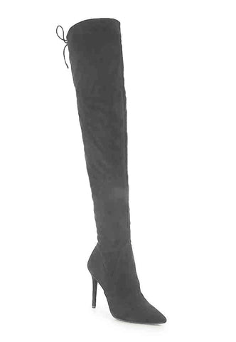 Jessica Simpson Lessy Over-The-Knee Dress Boots (Really Grey, 5.5M)
