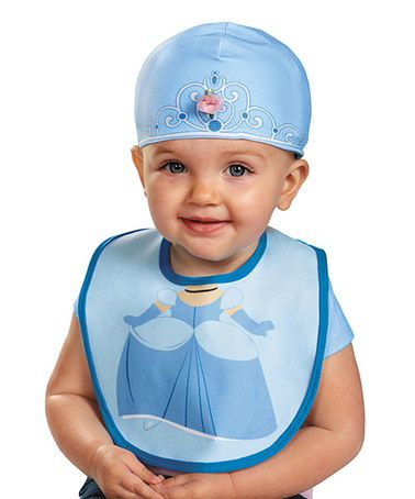 Disguise Baby Girl's Disney Princess Infant Bib and Hat Costume