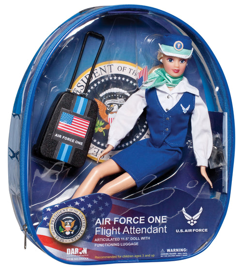 Daron Air Force One Flight Attendant Doll with Luggage