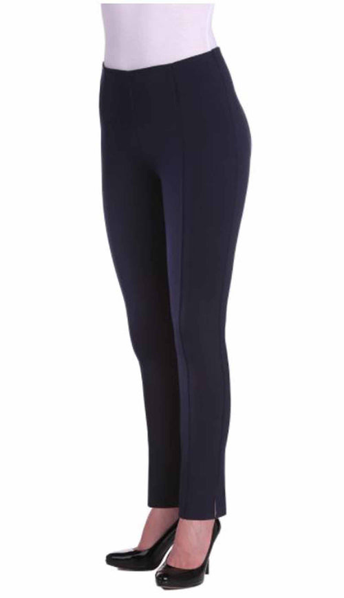 Nygard Slims Womens Luxe Ponte Ankle Pant with Side Slit