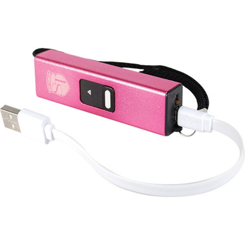 Safety Technology Slider Mini Stun Gun Flashlight Combo (Pink)